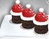 Vegan santa hat brownies