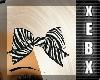 -Zebra Bow-
