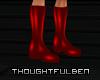!TB! PVC Dark Red Boots