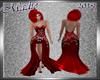 !a Loren's Red Silk Gown