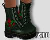 [zuv] rose-green boot