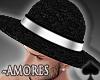 Cat~ Amores B&W Hat.M