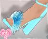 Fluffy Heels Blue LOL