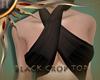 (II) Black Crop Top