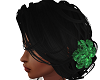 Black W/ Emerald Flower