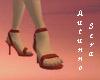 Brick Red Spike Heels