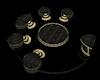 Black/Gold Spin Elegance