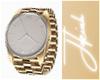 -F- Gold Watch L