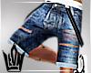 Denim Shorts suspenders