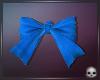 [T69Q] Bow Blue Hair