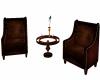 Dark Wood Seats