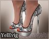[Y] Glitter silver heels