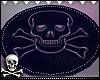 ☠Fur Black Rug | Skull