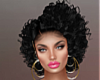 T- Rose Hair blak+silver