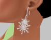 Diamond Snow Earrings