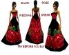 {LM}black rose wedding