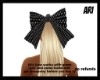 blk and/w polka dot bow
