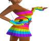 Rainbow circle purse