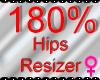 *M* Hips Resizer 180%