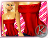 `K Red Long Halter top