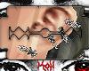 barbwire earrings