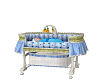 baby crib with baby boy