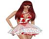 xmas red/white dress