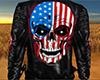 Patriotic Skull Jacket M