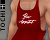 #T Apron #Layer Red