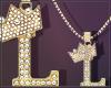 Gold Chain L Letter Fem