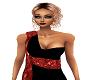 Red an Black Dress