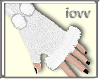 Iv-Fur Glove WhitE