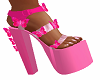 Pink Butterfly Doll Shoe