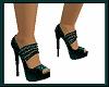 glitter green-blue heels