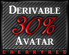 30% Avatar Derive