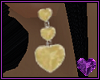 Gold Topaz Heart Drop
