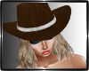 hair + hat Cowgirl