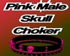 Pink skull choker male
