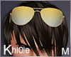 K gold sunglasses M