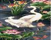 Lotus with Cranes