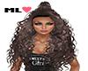 ML� Long Curly Brown