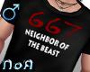 *NoA*667 Blk Shirt /M