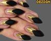 D. Nails Matte Black Gld