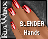 Wx:Slender Red Nails