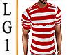 LG1 Red & White Stripe