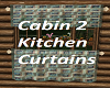 Cabin 2 Kitchen Curtains