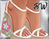 Spring Wedge Heels White