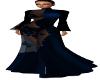 Blue Sheer Evening Gown