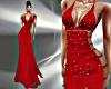 T- Satin Dress Red/G.