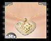LV heart necklaces